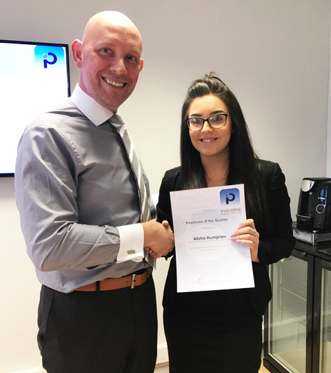 EMPLOYEE OF THE QUARTER MARCH 2017, Alisha and phil